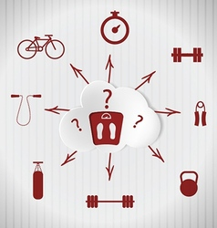 Sport quest adherence to a healthy lifestyle vector
