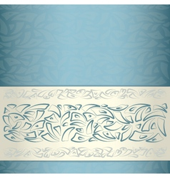 Ornamental pattern template vector