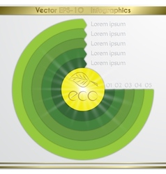 Modern circle diagram infographics elements vector