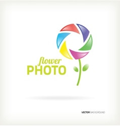 Symbol flower photo vector