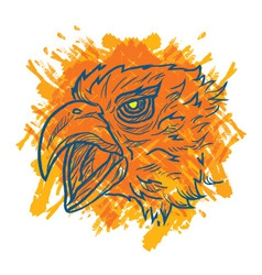 Eagle art fire vector
