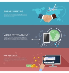 Business meeting mobile entertainment vector