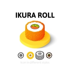Ikura roll icon in different style vector