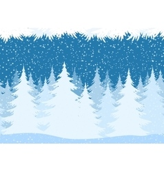 Seamless christmas forest landscape vector