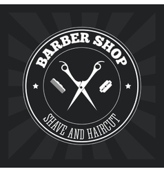 Barber shop design hair salon stylist icon vector