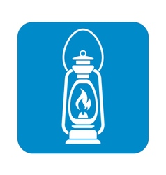 Antique old kerosene lamp icon vector