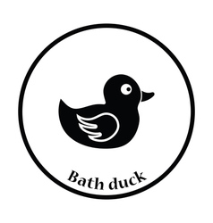 Bath duck icon vector