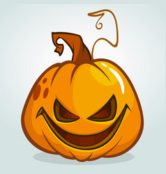 a scary halloween pumpkin jack vector image