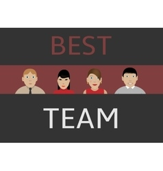 Best business team vector image vector image