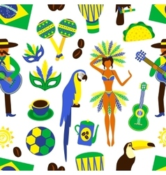 Brazil seamless pattern vector image vector image