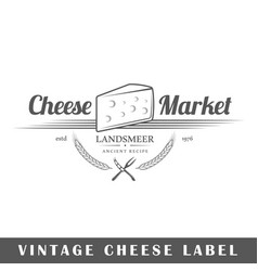 Cheese label vector