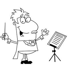 Conductor cartoon vector
