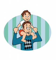 daddy and son vector image vector image