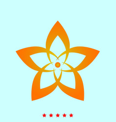 flower it is icon vector image