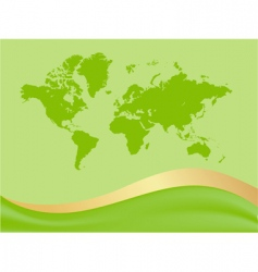global map background vector image