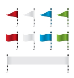 Golf flag and banner set vector image vector image
