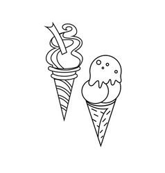 Ice-cream icon character 03 vector