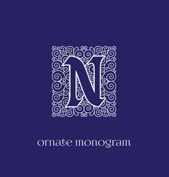 Monogram n vector