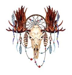 Moose skull4 vector image vector image