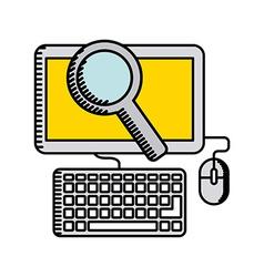 Online business design vector