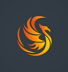Phoenix bird abstract logo vector