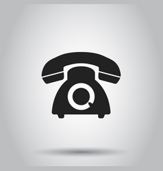 Phone icon on isolated background business vector