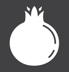 Pomegranate solid icon fruit and garnet vector