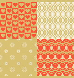 seamless pattern elegant wallpaper vector image vector image