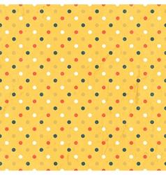 Seamless polka dots colorful vector