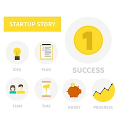 Startup icons vector