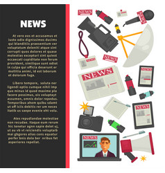 Television news poster for journalism profession vector