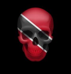 Trinidad and tobago flag skull vector