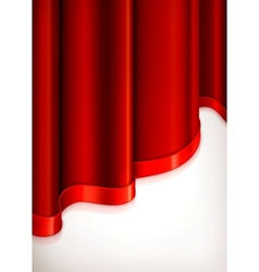 Vertical red invitation background vector image