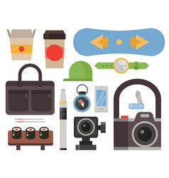 Vintage styled design hipster icons signs vector