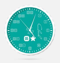 Wall clocks modern dial plate clock vector