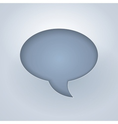 White paper cut chat bubble symbol vector image