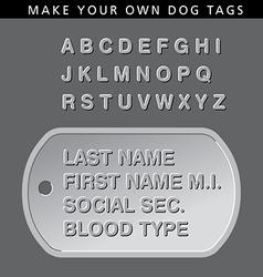 Dog tag vector