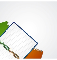Open notebook vector