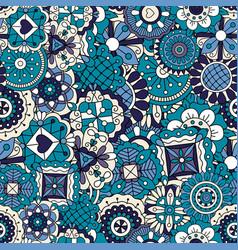 blue doodle pattern vector image