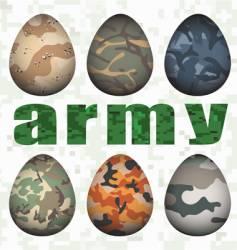 army eggs vector image