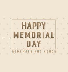 Happy memorial day collection background vector