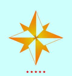 wind rose it is icon vector image