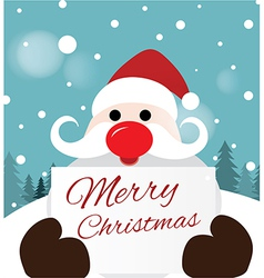Santa claus holding card vector