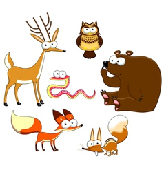 Wood animals vector