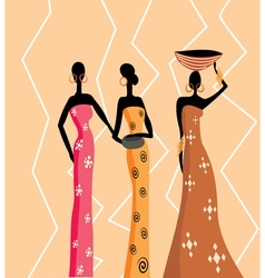 Beautiful african women vector