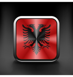 Sovereign state flag of country of albania in vector