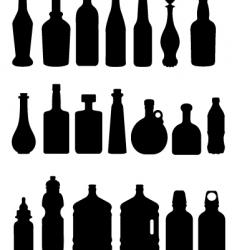 bottle vector image