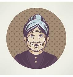 lovely grandma vector image