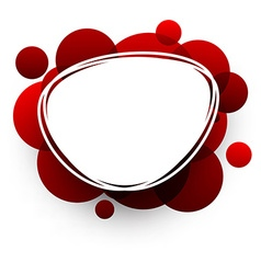 Oval background with red bubbles vector