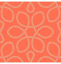Abstract rope knot seamless pattern vector image